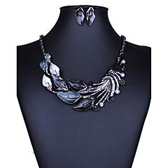 Schmuckset Halskette / Ohrringe Sexy Modisch Europäisch Schwarz Purpur Grün Blau Halsketten Ohrringe Für Hochzeit Party Alltag Normal1