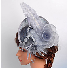 נשים סאטן תחרה אורגנזה רשת כיסוי ראש-חתונה אירוע מיוחד חוץ קישוטי שיער Birdcage Veils חלק 1