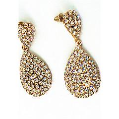Ohrring Strass Bikonvexe Form Tropfen-Ohrringe Schmuck Damen Modisch Halloween / Hochzeit / Party / Alltag / Normal / Sport Kupfer 1 Paar