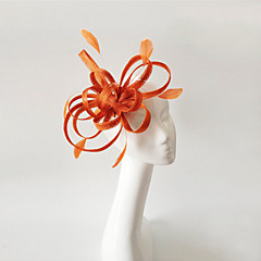 Kentucky Derby Church Races Orange Wedding Event Fascinator