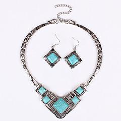 Schmuckset Halskette / Ohrringe Sexy Modisch Europäisch Blau Halsketten Ohrringe Für Hochzeit Party Alltag Normal 1 Set Hochzeitsgeschenke