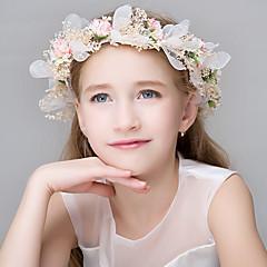 Vrouwen Polyester Vlechtwerk Hars Helm-Bruiloft Speciale gelegenheden Informeel Kantoor & Cariere BuitenTiara's Hoofdbanden Bloemen