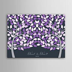 e-home osobní podpis plátno neviditelný rám tisk -purple dvou velkých stromů