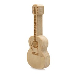 Wooden Guitar USB Flash Drive Disk 32GB USB 2.0  Gift Pen Drive