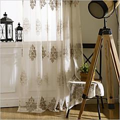 zwei Panele Window Treatment Europäisch , Blume Schlafzimmer Polyester Stoff Gardinen Shades Haus Dekoration For Fenster