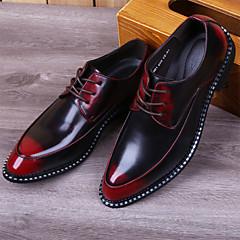 גברים-נעלי אוקספורד-עור-נעלי בובה (מרי ג'יין)-שחור / אדום / אפור / ברונזה-משרד ועבודה / קז'ואל-עקב נמוך