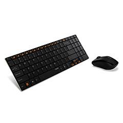 Teclado 5.6 mm ultra-fino teclado sem fio portátil do mouse
