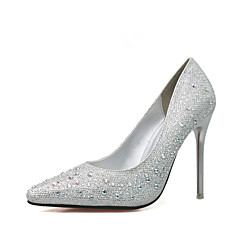The bride wedding shoes slipper shoes with pointed shoes fine diamond high heels shoes party