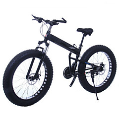 Mountain Bike Folding Bike Cycling 21 Speed 26 Inch/700CC 40mm Unisex Adult Double Disc Brake Suspension ForkRear Suspension Aluminium