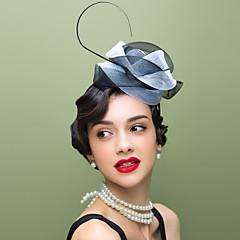 Mulheres Penas Tule Capacete-Casamento Ocasião Especial Casual Fascinador Chapéus 1 Peça