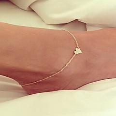 Dame Ankel/Armbånd Legering Kjærlighed Enkel Stil Mote Europeisk Håndlaget Smykker Til Bryllup