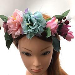 Women's Basketwork Fabric Headpiece-Wedding Special Occasion Headbands Flowers Wreaths 1 Piece