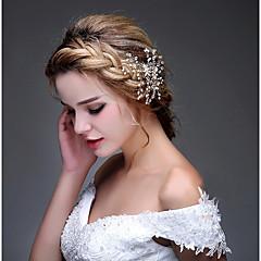 Femme Strass Alliage Casque-Mariage Occasion spéciale Décontracté ExtérieurSerre-tête Peigne Fleurs barre Cheveux Accessoires pour