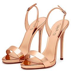 Sandály-PU-Jiné S páskem-Dámské-Černá Červená Zlatá Champagne Hořčicová-Svatba Kancelář Šaty Běžné Party-Vysoký