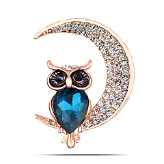 Women's Fashion Alloy/Rhinestone Moon Brooch Pin Party/Daily/Casual Animal Shapes Jewelry 1pc