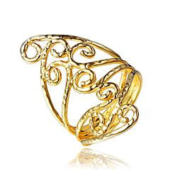 Dames Ring Kostuum juwelen Verguld 18K goud Sieraden Voor Bruiloft Feest Dagelijks Causaal