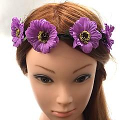 Women's Plastic Fabric Headpiece-Wedding Special Occasion Headbands Flowers Hair Tie 1 Piece