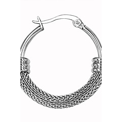 Férfi Női Páros Francia kapcsos fülbevalók Személyre szabott jelmez ékszerek Rozsdamentes acél Circle Shape Ékszerek Kompatibilitás