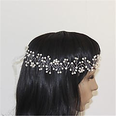 Women's Rhinestone Leatherette Headpiece-Wedding Special Occasion Headbands 1 Piece