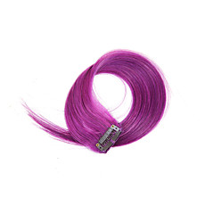 2 Pcs/Set 4 Clips Clip In Hair Extensions Purple 14Inch 18Inch 100% Human Hair For Women