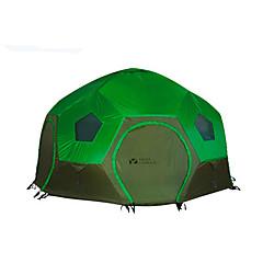 MOBI GARDEN 3-4 사람 텐트 더블 베이스 캠핑 텐트 원 룸 가족 캠프 텐트 따뜨하게 유지 방수 휴대용 방풍 자외선 방지 비 방지 폴더 통기성 울트라 라이트 (UL) 용 하이킹 캠핑 여행 야외 옥스포드 CM