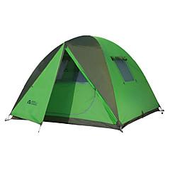방수 호흡 능력 자외선 저항력 바람 방지 휴대용 따뜻함 유지 울트라 라이트 (UL) 폴더 원 룸 텐트 그린
