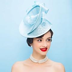 Ženy Peří len Přílba-Svatba Zvláštní příležitost Neformální Ozdoby do vlasů Klobouky Jeden díl