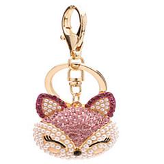 Schlüsselanhänger Schlüsselanhänger Diamant Rosa Metall