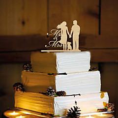 Decorações de Bolo Não-personalizado Casal Clássico Resina Casamento Amarelo Tema Borboleta 1 PPO