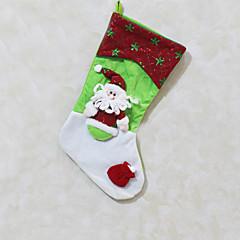 Božićne igračke Poklon vrećice Blagdanske potrpštine 3Pcs Božić Tekstil Bijela Zlatna Obala