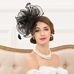 נשים נוצה אורגנזה כיסוי ראש-חתונה אירוע מיוחד קז'ואל סרטי ראש קישוטי שיער חלק 1