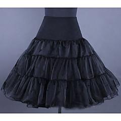 Slips Slip Knee-Length 2 Lycra/Organza White/Black/Red/Ivory