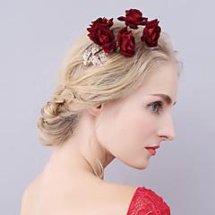Vrouwen Licht Metaal Fluweel Helm-Bruiloft Speciale gelegenheden Bloemen Baret Haarclip 1 Stuk
