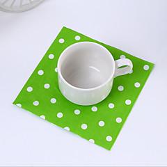 פלסטיק מפיות חתונה-1 חתיכה / סט מפיות קינוח מפיות ארוחת צהריים מפיות ארוחת ערב