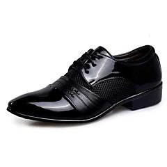 Újdonság Bullock cipő Formai cipő-Lapos-Férfi-Félcipők-Esküvői Alkalmi Party és Estélyi-PU-Fekete Barna