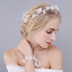 Dame Krystall Tyll Imitert Perle Hodeplagg-Bryllup Spesiell Leilighet Diademer Pannebånd Blomster 2 deler