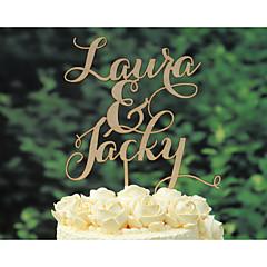 케이크 장식 개인화 클래식 커플 크롬 기념일 웨딩 옐로우 클래식 테마 빈티지 테마 소박한 테마 1 폴리 가방