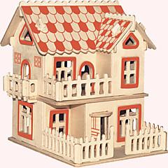 jigsaw zagonetke Drvene puzzle Građevni blokovi DIY igračke Poznata zgrada Kineska arhitektura Kuća 1 Drvo KristalneIgračka model i