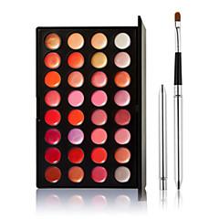 32 Sjajila za usne + Kistovi za šminku Wet Lips Shimmer glitter gloss / Boji sjaj / Dugo trajanje / Prirodno / Prozračnost Others