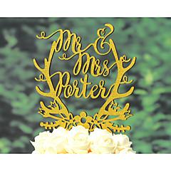 Tortenfiguren & Dekoration individualisiert Klassisches Paar Religiös Chrom Kartonpapier Hochzeit Jubliläum Brautparty Gold SilberGarten
