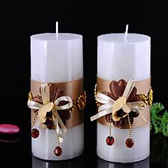 Favores da vela-2 Peça/ Conjunto Velas Não-Personalizado Preto