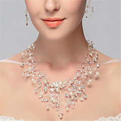 Women's Strands Necklaces Imitation Pearl Imitation Diamond Pearl Imitation Pearl Rhinestone Simulated Diamond Tassels White Jewelry