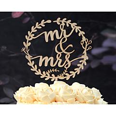 Kakepynt Ikke-personalisert Klassisk Par Kort Papir Utdrikkingslag Bryllup Jubileum Gul Hage Tema Blomster Tema Klassisk Tema Vintage Tema