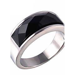 טבעות הצהרה טבעת שוהם ברקת פלדת טיטניום אופנתי זהב כסף תכשיטים יומי קזו'אל 1pc
