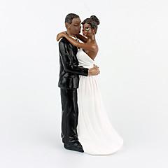 Décorations de Gâteaux Non personnalisée Couple classique Résine Mariage Commémoration Fête prénuptiale Anniversaire NoirThème de plage