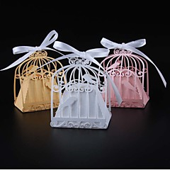 50pcs birdcage wedding favor box love birds candy box party shower favors box