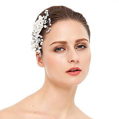 成人用 レース ラインストーン 人造真珠 かぶと-結婚式 パーティー コーム 1個