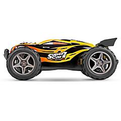 Buggy WLToys 1:12 Bürster Elektromotor RC Auto 45 2.4G Gelb Fertig zum MitnehmenFerngesteuertes Auto Fernsteuerung/Sender Akku-Ladegerät