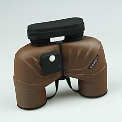 COMET 7X50 mm Binoculars Porro Prism High Definition Wide Angle Spotting Scope Handheld Compass General use Hunting Bird watching BAK4