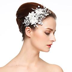 Women's Lace Rhinestone Imitation Pearl Headpiece-Wedding Special Occasion Flowers Hair Clip 1 Piece